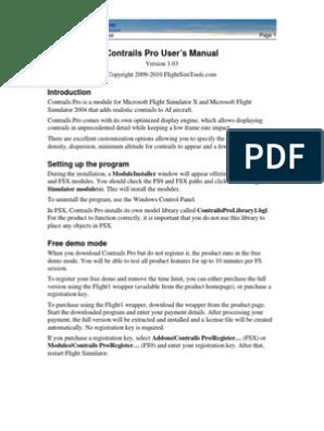 Contrails Pro | Software del sistema | Software