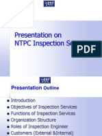 Presentation on NTPC Inspection Services