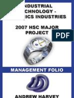 HSC ITG Major Project 2007 Management Folio