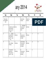 Wayman Kindergarten Homework Calendar