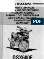 Suzuki GSX600F Owner's Manual