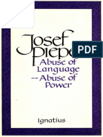 Abuse of Language -- Abuse of Power - Josef Pieper