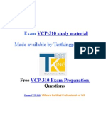 Exam VCP-310 preparation questions