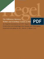 Hegel, G.W.F. - Difference Between Fichte's & Schelling's Philosophy (SUNY, 1977)