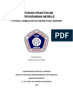 Laporan Praktikum Pemrograman Mobile Pembuatan Database
