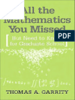 All the Mathematics You Missed but Need to Know for Graduate School