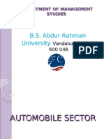 study on the automobile sector in A comprehensive study of performance of indian automobile industry the automobile sector is an interesting part of the economy and its study.