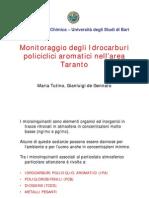 Monitoraggio degli Idrocarburi policiclici aromatici nell'area di Taranto