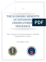 THE ECONOMIC BENEFITS OF EXTENDING UNEMPLOYMENT INSURANCE The Council of Economic Advisers and the Department of Labor December 2013
