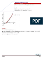 H3-12MM- Calculus - Gradient of a Curve at a Point and the Gradient Function