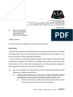 Athletics SA Statement