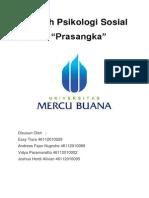 "Makalah Psikologi Sosial ""Prasangka"" Universitas Mercubuana"