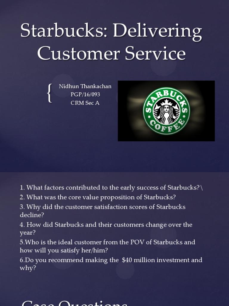 starbucks customer satisfaction scores