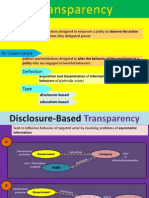 Transparency of Government