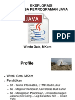 Eksplorasi Java 05012014