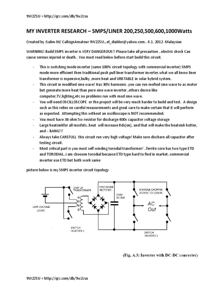 Switch Mode Inverter Power Transformer Solar Garden Light Circuit Further 5000 Watt Schematic