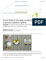 Don't Believe the Spin on Thorium Being a Greener Nuclear Option | Environment | Theguardian.com