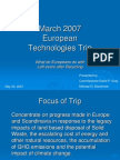 European Technologies Trip March 2007 Compressed