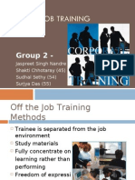On the Job training Methods