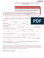 Wfo Student Application