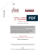 World Conference of Screenwriters - Draft Programme