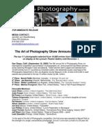 Art of Photography Show Winners