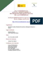 Programa III Conferencia España Iberoamérica de RSE