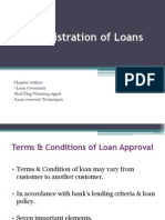11.Administration of Loan