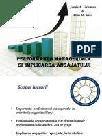 Performanta Manageriala Si Implicarea Angajatului