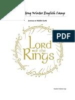 2013 Gwandong Winter English Camp- Master Plan