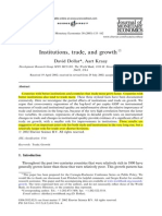 Dollar and Kraay (2003) Institutions, Trade and Growth