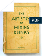 The Artistry of Mixing Drinks ( Frank Myer)