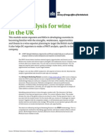 2011 Swot Analysis for Wine in the Uk