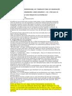 A VISUALIZAÇÃO TRIDIMENSIONAL DO TRABALHO FINAL DE GRADUAÇÃO DO CURSO