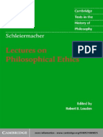 Schleiermacher - Lectures on Philosophical Ethics