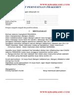 Surat Pernyataan Prakerin