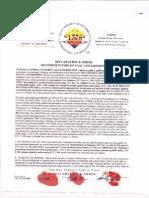 DECLARATION E ORDER CONSTITUTION OF CVAC GOVERNMENT - DOC # 2012128324
