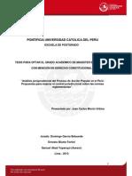 Análisis jurisprudencial del proceso de acción popular en el Perú. Propuestas para mejorar el control jurisdiccional sobre las normas reglamentarias - Juan Carlos Morón Urbina