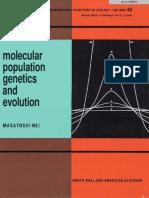 Molecular Population Genetics and Evolution - Masatoshi Nei