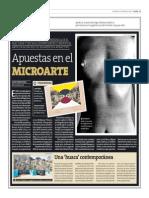 Apuestas en el microarte | Textos de mArte | Perú21 | Lima, 05 de enero de 2014