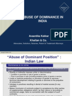 Khaitan - ICCA Conference - Abuse of Dominance in India-3596386-V1-LONDOCS