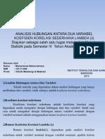 Metoda Statistik (Lambda)
