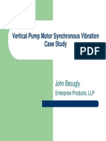 Vertical Pump Synchronous Motor Vibration