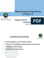 Week 12 - Lecture 1. Requirements Validation and Verification
