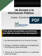 Costo de Ley de Acceso a la información [1]
