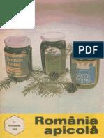 Romania Apicola 1992 Nr.11 Noiembrie