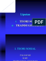 Teori sosial Dan Tradisi Geografi