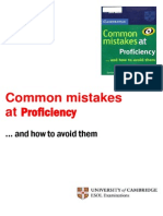 Common Mistakes Proficiency