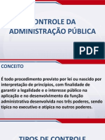 Direito Administrativo Módulo Básico - Aula 34 - Controle da Administração Pública