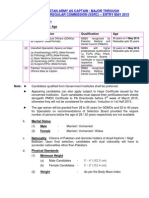 JOIN PAKISTAN ARMY AS CAPTAIN / MAJOR THROUGH SHORT SERVICE REGULAR COMMISSION (SSRC) – ENTRY MAY 2015
